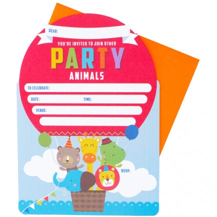 Animals Party Invites