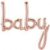 Rose Gold Baby Script Balloon
