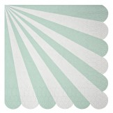 Mint Striped Napkins