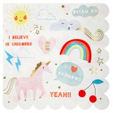 Unicorns and Rainbows Napkins