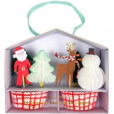 Christmas Honeycomb Cupcake Kit