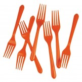 Orange Classic Cake Forks