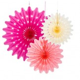 Blossom Paper Fan Set
