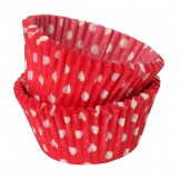 Red and White Polka Dot Cupcake Cases