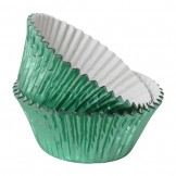 Green Foil Cupcake Cases
