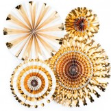 Gold Paper Fan Decoration Kit