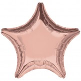 Rose Gold Star Foil Balloon 45cm