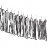 Silver Metallic Balloon Tassels