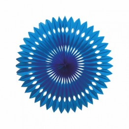 True Blue Paper Fan 24cm