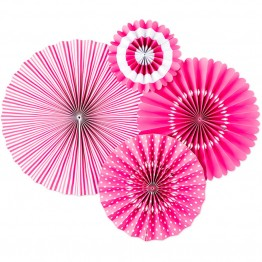 Pink Paper Fan Decoration Kit