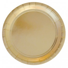 Gold Metallic Party Plates