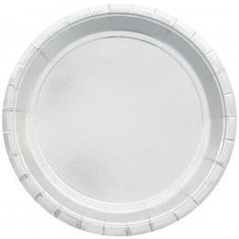 Silver Metallic Party Plates