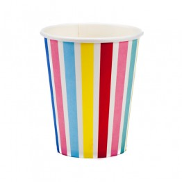 Rainbow Stripe Paper Cups
